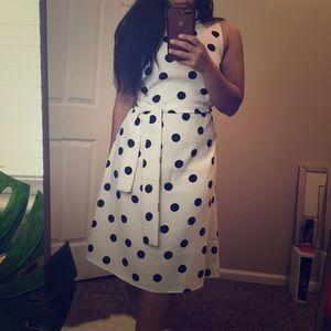 Ann Taylor Polka Dot Dress with belt
